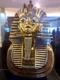 Máscara Mortuária de Tutankhamon, Exposição Segredos do Egito. #exposicao #culturaegipcia #arteegipcia