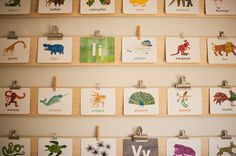 Love these clip boards on the wall to display art work and all sorts of cards.