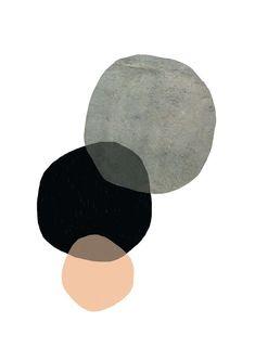 East End Prints - Circles Abstract Framed Print - White Frame - Black/Grey/Pink - Painting Paper Wall Art, Tree Wall Art, Tree Artwork, Poster Shop, Plakat Design, Contemporary Abstract Art, Inspiration Art, Grafik Design, Oeuvre D'art