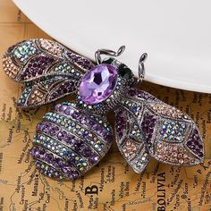 Bee Brooches Jewelry Anniversary Jewelry Rhinestone Pin Brooch #purple #brooch #accessories #Jewelry #Pin #Rhinestone #pearl #crystal #gem #outfit  #ootd #styles #streetstyle #trends #look #lookbook #makeup #hair #beauty #beautiful #flower #sexy #fashion #girl #clothing #ideas #trending #whatiwore #beach #trips #fashiondiaries #widn #fashion