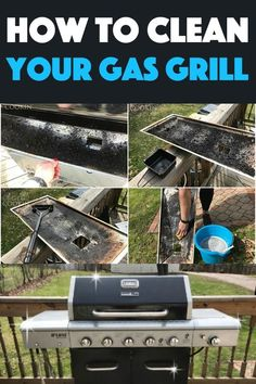 Get ready for grilling season with this step by step photo guide on how to clean your gas grill. Easy instructions that will have you grilling in no time! Clean Stainless Steel Grill, Clean Grill Grates, Bbq Grates, Bbq Cleaner, Bbq Stand, Gas And Charcoal Grill, Best Gas Grills, How To Clean Bbq, Gas Bbq