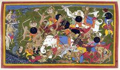 Battle_at_Lanka,_Ramayana,_Udaipur,_1649-53.jpg (5100×2995)