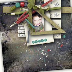 First Day Of School - full kit by DitaB Designs @ pickleberrypop First Day Of School, Digital Scrapbooking, Layouts, Kit, Frame, Books, Design, Home Decor, First Day Of Class