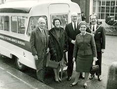 Another CAB bus. This time being met by a very happy looking civic delegation Image Chart, Citizen, The Past, Advice, History, Happy, People, Tips, Ser Feliz