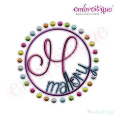Rainbow Dots Font Frame - 11 Sizes! | Font Frames | Machine Embroidery Designs | SWAKembroidery.com Embroitique