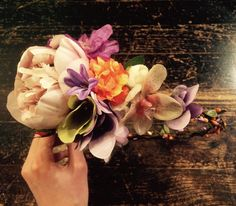 Bright and pastel colored floral crown for the loveliest bride. See www.by-rk.com for more floral goodness <3