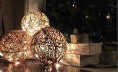 Opzoek naar moderne en smaakvolle kerstdecoratie? Deze lichtballen van henneptouw maak je in een handomdraai! - Zelfmaak ideetjes