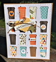 Bella Blvd. Fall Coffee Card by  Kristine Davidson