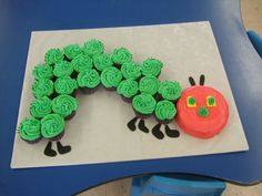 hungry caterpillar cake......perfect celebration treat after completing butterfly life-cycle unit
