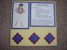 Disney Recipe Card Swap - A/Aladdin by traceyc0103 - Cards and Paper Crafts at Splitcoaststampers