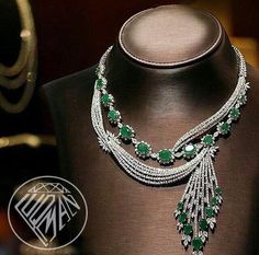Diamond Necklace luqmanjewelleryIncredibly Extraordinary The House of Bridal Jewelry, Beaded Jewelry, Fine Jewelry, Emerald Jewelry, Diamond Jewelry, Diamond Necklaces, Emerald Necklace, Fashion Necklace, Fashion Jewelry