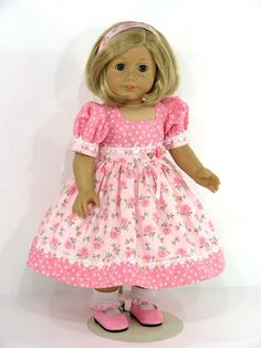 Find excellent quality detailed American Girl doll 18 inch clothes and dresses handmade in the USA by Linda; shop for doll hangers, shoes, socks and accessories Doll Clothes Hangers, Sewing Doll Clothes, Girl Doll Clothes, Girl Dolls, Ag Dolls, Barbie Clothes, American Girl Dress, American Doll Clothes, American Dolls