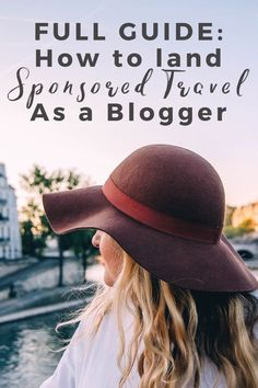"FULL GUIDE: How To Land Sponsored Travel as a Blogger - plus a free email template to help you get more sponsored travel! ""The world is a book and those who do not travel read only one page."" Saint Augustine was right. But man, traveling isn't cheap. What if you could leverage your blogging skills to pay for say, a flight, a hotel room, food, or an experience? Or even… all of the above? People want to know: How do you make money traveling OR how do you get paid to travel? Let me tell you…"