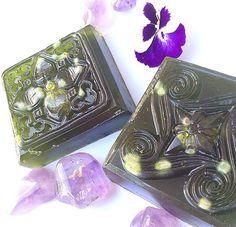 Moringa & Crystal Infused Himalayan Salt Soap by BethKaya on Etsy