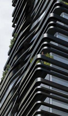 5 Franklin Place in New York designed by Dutch architect Ben van Berkel of UNStudio. «