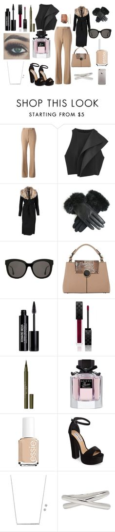 """Business Women # 2"" by nancymaria-2016 ❤ liked on Polyvore featuring Alexander McQueen, C/MEO COLLECTIVE, Boohoo, Gentle Monster, Dune, Edward Bess, Gucci, Stila, Bellezza and Essie"