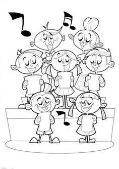 musikband: kinder spielen und singen. schwarzweiss