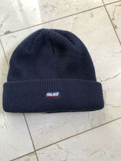 baa9fe443f9 Palace Beanie Navy blue  fashion  clothing  shoes  accessories   mensaccessories  hats