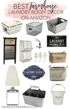 Check Out The BEST Farmhouse Laundry Room Decor On Amazon