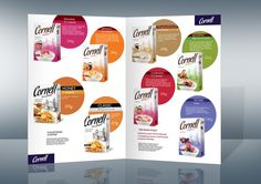Cornell oatmeal and flakes packaging design by Lena McCoder, via Behance