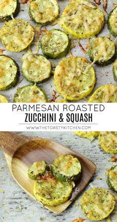 Roasted zucchini and squash is a quick and easy side dish that's ready in 20 minutes. Sliced zucchini and squash are coated in Italian seasoning and parmesan cheese then roasted in the oven. Healthy Side Dishes, Side Dishes Easy, Vegetable Side Dishes, Side Dish Recipes, Vegetable Recipes, Parmesan Roasted Zucchini, Roasted Zucchini And Squash, Roast Zucchini, Roasted Zucchini Recipes
