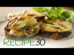 Eggplant Margherita - Easy Meals with Video Recipes by Chef Joel Mielle - No Dairy Recipes, Tofu Recipes, Cooking Recipes, Healthy Recipes, Delicious Recipes, Easy Recipes, Healthy Food, Italian Dishes, Italian Recipes