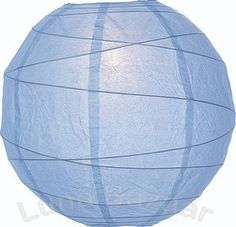Powder Blue 10 Inch Premium Round Paper Lantern by Luna Bazaar. $3.95. This small blue paper lantern is made with the finest quality rice paper and bamboo freestyle ribbing. As with all our premium paper lanterns, they can be used with most ceiling fixtures and with most light cords for hanging lanterns. They can also be used with our LED battery lights as convenient, cord-free lighting and decoration for parties, weddings, patios, gardens, and outdoor celebrations. (Please...