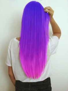 Long purple/pink ombre hair---if i got this i would die,not only because its sooo amazing but also because @lissa3344 might kill me first!!!
