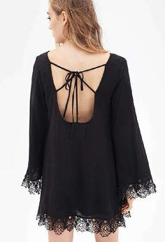 Black Long Sleeve Backless Dress 18.99