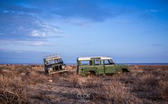 These Landrover Defenders now remain abandoned at the Koobi Fora Museum on the shores of Lake Turkana, Kenya. A hot, wild and hostile part of the country!