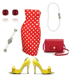 Minnie Mouse by katherineinsley-candi on Polyvore featuring polyvore, fashion, style, Givenchy Haute Couture, Ted Baker and Chloe + Isabel