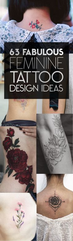 63 Fabulous Feminine Tattoo Design Ideas | TattooBlend