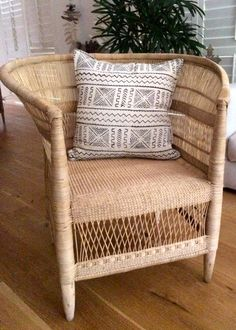These beautifully handwoven Malawi chairs are sourced from the Malawi region in Africa. The intricate weaving makes this chair a unique work of art. It will loo