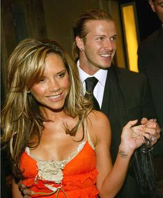 David and Victoria leaving the Claridges in 2004