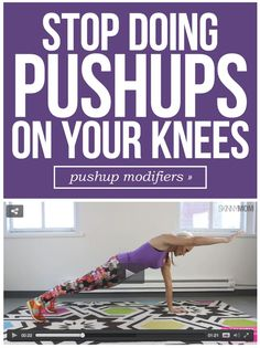 It's time to get up off your knees and try these 4 pushup variations!