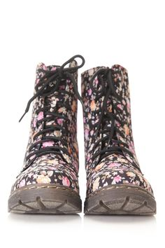My baby girl used to have & rock the heck out of her floral Doc Marten's, happy memories! ^tina_stl Floral Combat Boots