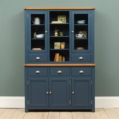Westcote Blue Extra Large Sideboard - The Cotswold Company Open Plan Kitchen Living Room, Kitchen Dining Living, Home Decor Kitchen, Blue Kitchen Cupboards, Kitchen Armoire, Blue Dresser, Welsh Dresser, Dresser In Living Room, Dining Room Blue