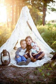 Shabby chic outdoor family