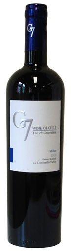 G7 Merlot Clasico • Mã sản phẩm: A4022 • Xuất xứ : Chile  • Dung tích: 750ml  • Độ cồn: 13.5°  Giá: Liên hệ http://cuahangruouvang.blogspot.com/2014/08/g7-merlot-clasico-vang-chile.html