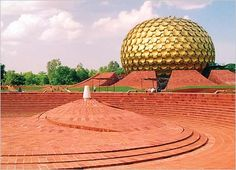 the Matrimandir, Auroville, Sri Aurobindo community near Pondicherry, India