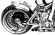 Motorcycles Illustrations by DAVID VICENTE, via Behance