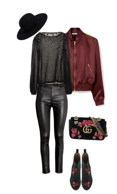 """""""Sin título #789"""" by maricelmartinez on Polyvore featuring moda, Mulberry, H&M, Siggi, Charlotte Olympia y Gucci"""