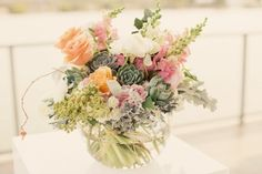 Beautiful wedding flowers by Green & Bloom - love succulents!