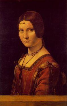 La Belle Ferronière Pintor: LEONARDO DA VINCI Museo Nacional del Louvre