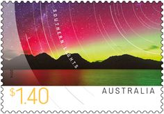 The Southern Lights, formally known as the Aurora Australis, are the Southern Hemisphere's counterpart to the Northern Lights (Aurora Borealis). Small Art, Antarctica, Stamp Collecting, Tasmania, Postage Stamps, Over The Years, Scenery, Southern, Ocean