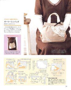 【作品紹介と作り方】012乙女のグラニーバッグ の画像|隔月刊誌「コットンタイム」の型紙販売サイト