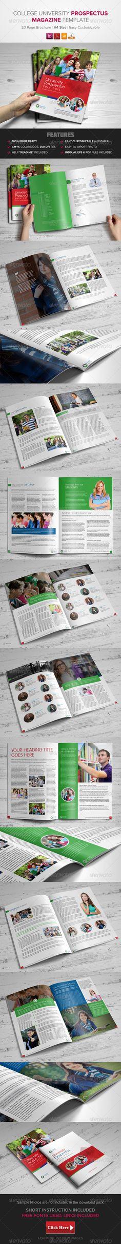 College University Prospectus/ Magazine Template - Catalogs Brochures