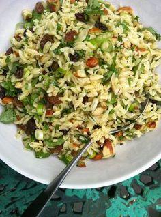 Risoni Salad Rice Salad Recipes, Veggie Recipes, Lunch Recipes, Pasta Recipes, Vegetarian Recipes, Cooking Recipes, Healthy Recipes, Risoni Recipes, Risoni Salad