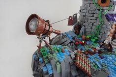 The Stargazer #Lego #LegoModular #LegoBuild #legobuilding #MOC #MOCs #legoCastle… Lego Structures, Cool Lego, Awesome Lego, Lego Guns, Lego Display, Lego Activities, Lego Modular, Lego Castle, Heart For Kids
