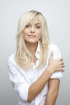 Kapsel voor halflang blond haar - Kapsels voor lang haar